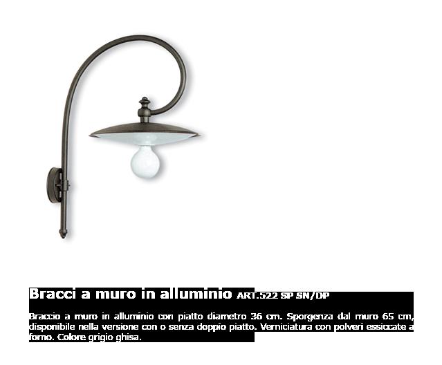 Bracci a muro in alluminio - ART.522 SP SN/DP