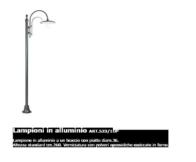 Lampioni in alluminio - ART.523/1 DP