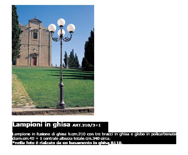 Lampioni in ghisa - ART.210/3+1