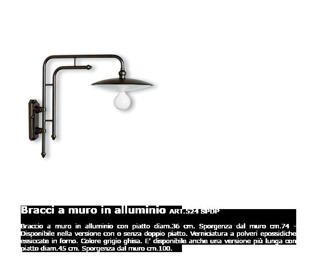 Bracci a muro in alluminio - ART.524 SPDP