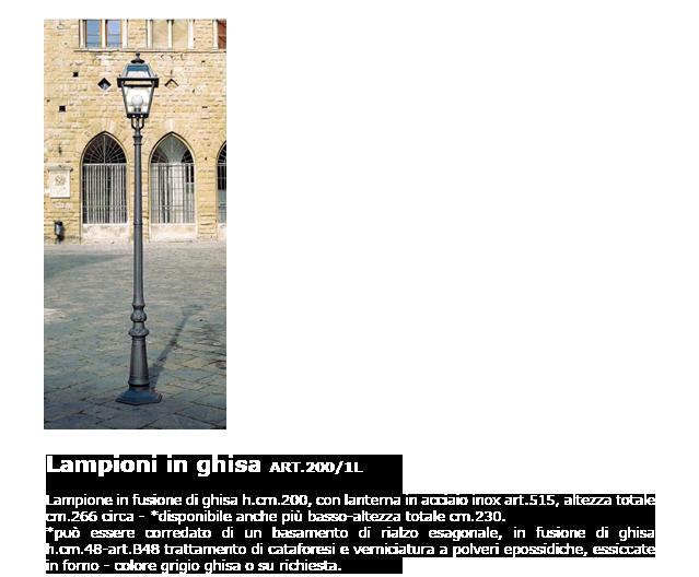 Lampioni in ghisa - ART.200/1L