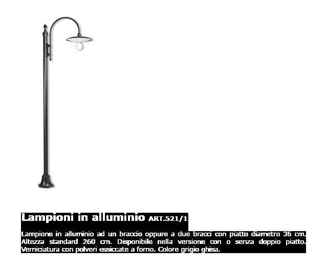 Lampioni in alluminio - ART.521/1