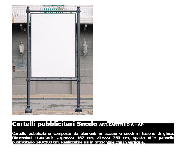 Cartelli pubblicitari - ART.CARTELLO A-AP