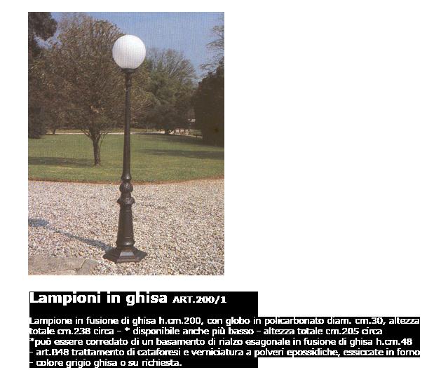 Lampioni in ghisa - ART.200/1