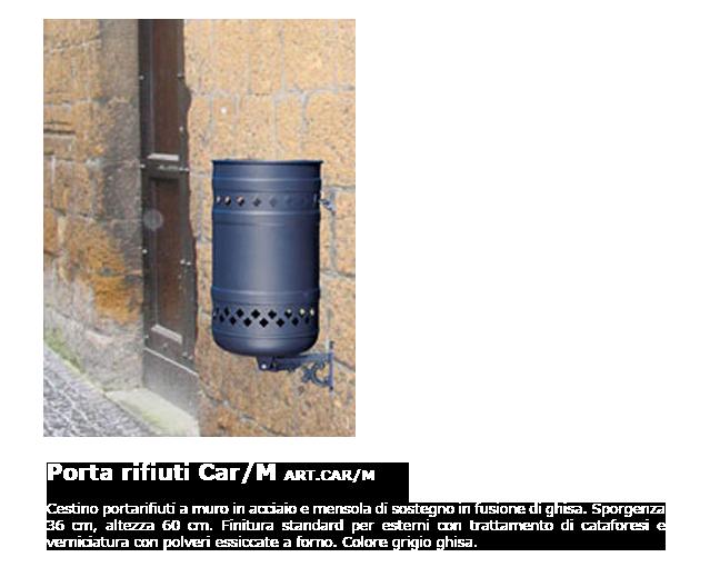 Porta rifiuti - ART.CAR/M
