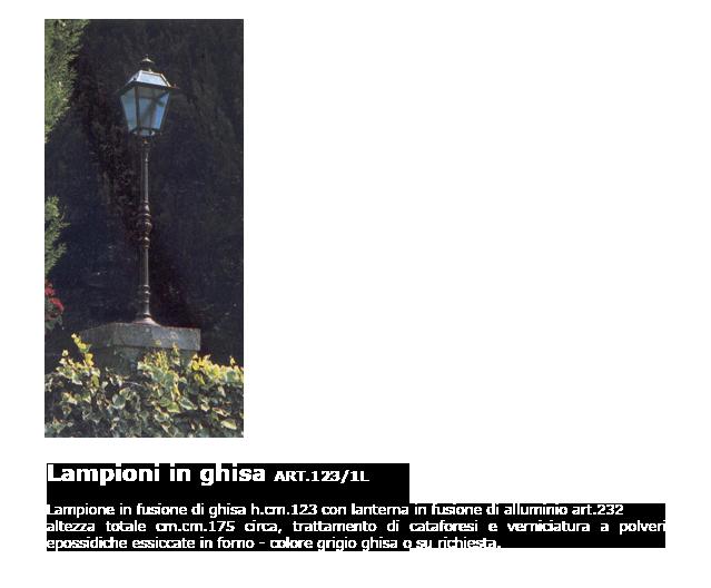 Lampioni in ghisa - ART.123/1L