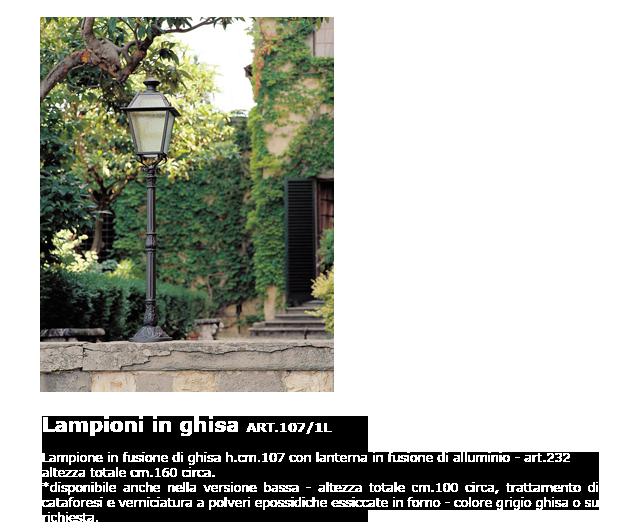 Lampioni in ghisa - ART.107/1L