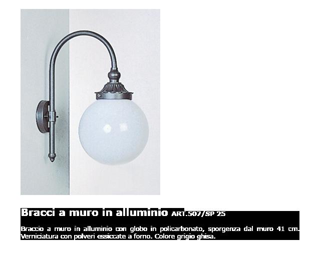 Bracci a muro in alluminio - ART.507/SP 25