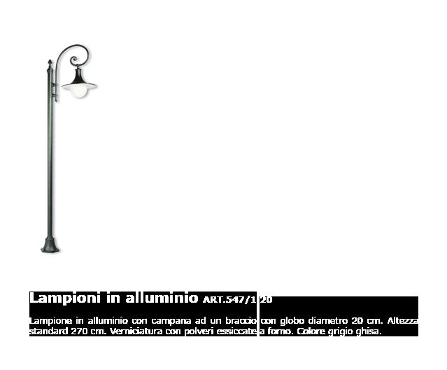 Lampioni in alluminio - ART.547/1 20