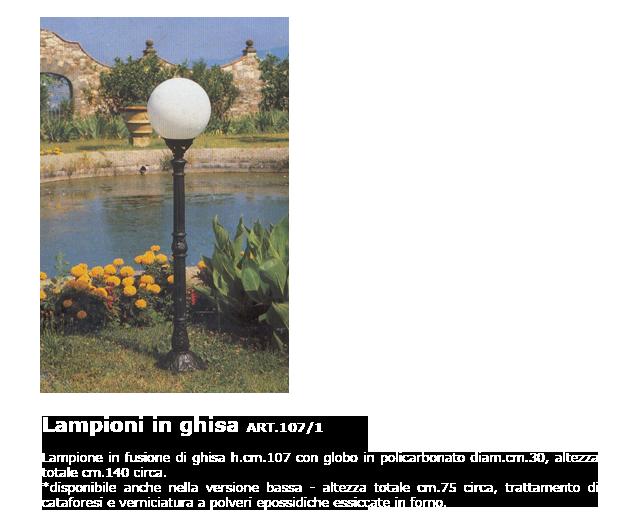 Lampioni in ghisa - ART.107/1
