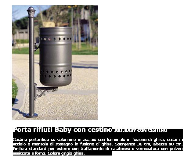Porta rifiuti - ART.BABY CON CESTINO