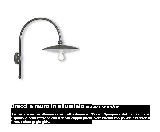 Bracci a muro in alluminio - ART.521 SP SN/DP