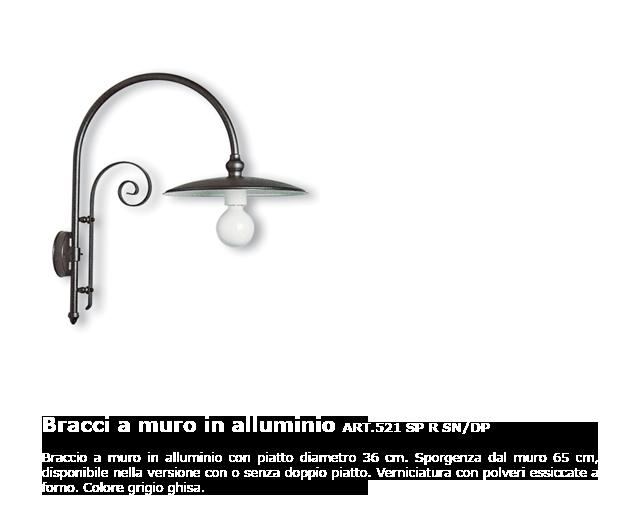 Bracci a muro in alluminio - ART.521 SP R SN/DP
