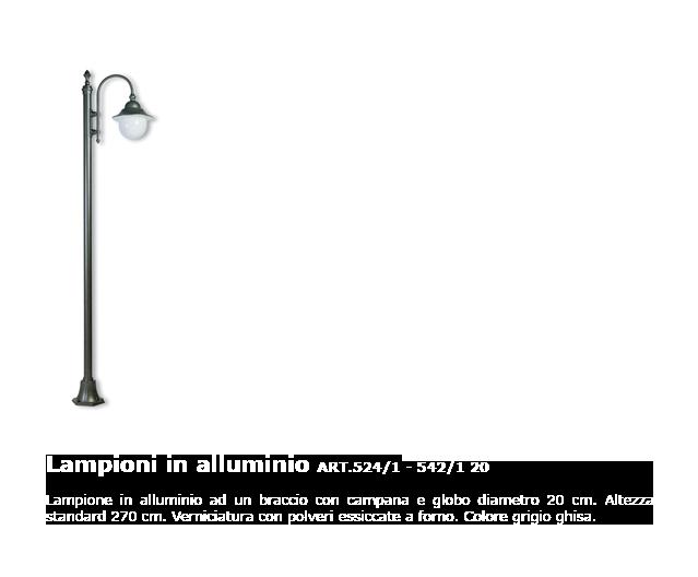 Lampioni in alluminio - ART.524/1 - 542/1 20