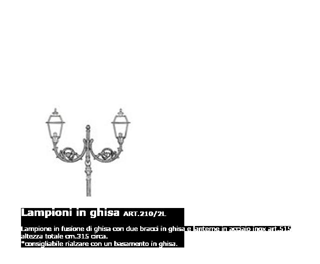 Lampioni in ghisa - ART.210/2L