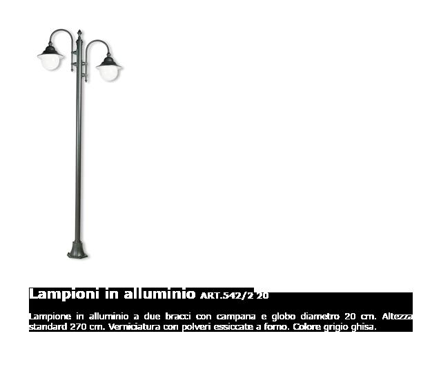 Lampioni in alluminio - ART.542/2 20