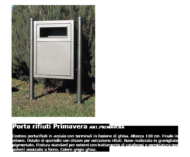 Porta rifiuti - ART.PRIMAVERA